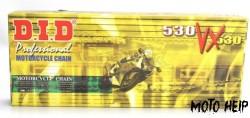 ВЕРИГА DID VX530 GOLD&BLACK 114L