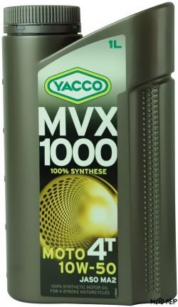 МОТОЦИКЛЕТНО МАСЛО ЗА 4ТАКТОВИ ДВИГАТЕЛИ YACCO MVX 1000 10W-50 1L