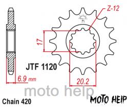 ПРЕДНА ЗЪБЧАТКА JTF1263-14зъба
